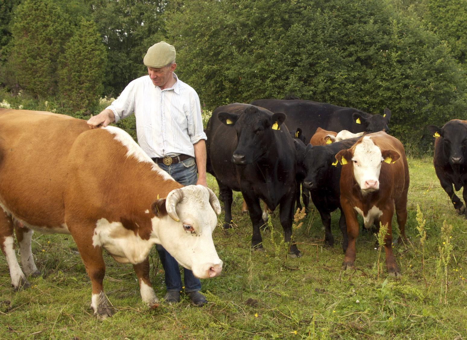 Heinrich Jung bonde som leverer grønnsaker og kjøtt til Kooperativet