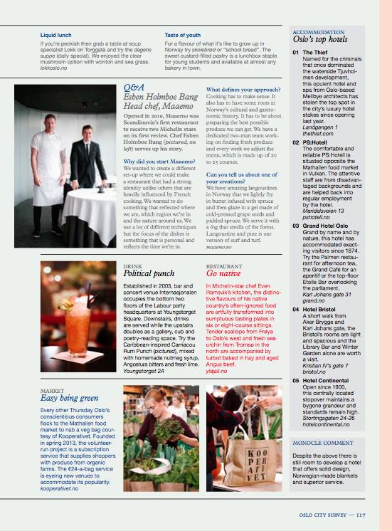 Oslo Kooperativ i Monocle Magazine 2